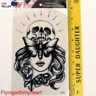 Large Tattoo Angels & Demons Skull Devil Butterfly Waterproof Sticker 92