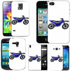 Motif case cover for Mobile Phones - blue motorbike