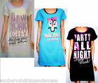 New This Years Fashion Motif Ladies/girls Cotton Nightshirts Six Choices 5 Sizes
