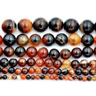 "Natural Dream Stripe Agate Gemstone Round Beads 15.5"" 4mm 6mm 8mm 10mm 12mm 14mm"