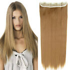 "24"" Women Clip In Long Straight Synthetic 5 Clips Hairpiece Slice Hair Extension"