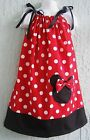 Minnie Mouse Pillowcase Dress Girl Size 4-12 yrs  Mult-color Polka Dots Summer..