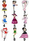 Betty Boop Small or Large Sticky White Paper Stickers Labels NEW £1.99 GBP on eBay