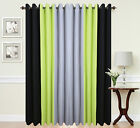 Eyelet Ring Top Ready made Designer Curtains Black Lime Green Grey