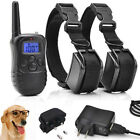 Rechargeable E-collar Trainer Pet Electric 2 Dog Remote Shock Training Collar