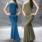 New Arrival Elastic 2016 Women's Shoulder Off Belly Dance Costumes Long Dress