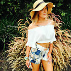 sale forever hot BOHEMIAN OFF THE SHOULDERS WHITE CROP TOP BOHO FESTIVAL 10 new