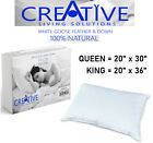 Creative 100% Natural Goose Feather and Down 100% Cotton Case Bed Pillows image