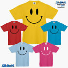 Smiley Face Retro Boys Girls Kids T Shirt 80's 90's Happy Smiler Summer Fashion