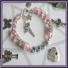 Girls Personalised Bracelet hellokitty tinkerbell now comes with a free gift bag