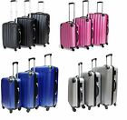 SET OF 3 HARD SHELL 4 WHEEL SUITCASE TROLLEY CASES CABIN CARRY ON LUGGAGE