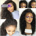 Hot queen wavy 100%brazilian lRemy Human Hair Full/Lace Front Wig with baby hair