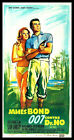 """Dr No FRIDGE MAGNET Movies Poster 9""""x18 Sean Connery James Bond Magnetic Canvas $32.95 USD on eBay"""