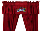 "NEW CLEVELAND CAVALIERS Jersey Valance & 63"" or 84"" Curtain Set"