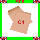 C4 Plain Self Seal Manilla Brown Envelopes New A4 SS - FAST DISPATCH