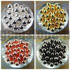 100pcs Round Spacer Beads Silver Gold Gunmetal Plated Over Copper 2.4mm ~ 12mm