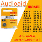 Maxell Watch Batteries, Silver Oxide 516, 616, 621, 626, 920, 927,  - All Sizes