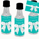 Tiffany Blue Bridal Shower Mini Liquor Bottle Labels + Bottle option Favors (12)