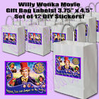 Chocolate Factory Movie Gift Bag Label DIY Stickers Labels 12 Golden Ticket