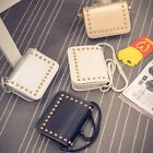 Hobo Bag Chic Shoulder Soft Women Handbag Messenger Satchel PU Leather Rivet