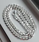 9MM 925 STERLING SILVER MEN'S/WOMEN'S CUBAN LINK CHAIN NECKLACE 16-36""