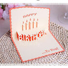 3D Luxury Handmade Pop Up Greeting Card Happy Birthday Blessing Lucky Gift фото