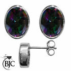 BJC® Sterling Silver 925 Natural Mystic Topaz Oval Stud Earrings 3.00ct Studs