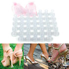 20/40 Pcs Clear Stiletto High Heel Protector Covers Shoes Stopper Cylinder Shape