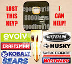 CRAFTSMAN KOBALT HUSKY Tool Box Chest Cabinet Keys for 8000 8100 8200 Locks