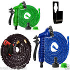 50ft - 150ft Expandable Flexible Garden Hose Pipe Expanding Fittings Spray Gun