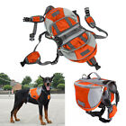 Large Pet Dog Outdoor Travel Hiking Camping Saddle Bag Backpack Harness Carrier