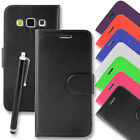 Wallet Card Flip Case Leather Cover for Samsung Galaxy J5 (2016) + Tall Stylus