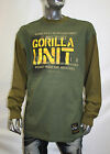 Men's G- Unit OLIVE Long Sleeve T-Shirt 100% Cotton