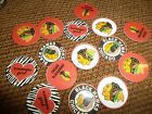 Pre Cut One Inch CHICAGO BLACKHAWKS  FREE SHIP $4.4 USD on eBay