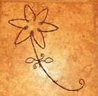 """Barbed Wire Flower 20"""" natural red gold primitive rustic wall art decor handmade"""