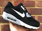 Nike Womens Air Max 90 Essential Black/White/Wolf Grey Size UK 3 4 6 7 NEW