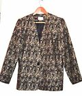 DESIGNER LUCIA DARLING FLORAL PEWTER JACKET LADIES SIZE 10 LIKE NEW