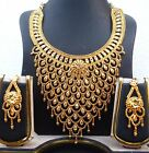 Indian 22K Gold Plated Wedding Necklace Earrings Jewelry Set Variations 8'' Set