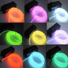 LED Colour EL Wire Tube Rope Battery Power Flexible Neon Light Car Party Dress
