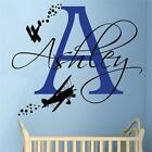 Biplane with Name - Boys Bedroom Nursery Wall Sticker
