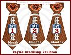 Chicago Bears Monthly Ties Stickers football inspired monthy stickers