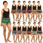 New Womens Ladies Printed Pattern Boxer Shorts Loose Fit Elastic Waist
