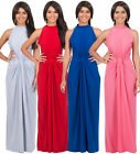 NEW Womens Elegant Knotted Sleeveless Cocktail Maxi Dress XS S M L XL 2X 3X