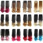 Long Wave Curly Synthetic Hair Ponytail Ombre Ribbon Pony Tail Hair Extensions