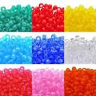 Transparent Pony Beads - 12 Colours - Dummy Clips, Hair Braiding x 100pcs
