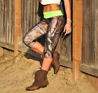 Camo Pants Camouflage Green Waist Hot Yoga Capri Legging SXYfitness MADE IN USA