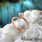 Engagement Ring Size 6 Pave Diamond 1.06 TCW SI/G-H 14k Rose Gold Women Enhanced