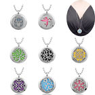 Hollow Locket Necklace Pendant Perfume Fragrance Diffuser For Young Living Pads
