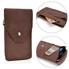 Universal Full-grain Genuine Leather Phone Wallet Case Pouch  GMENMO14|ECE