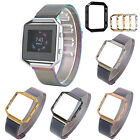 Magnetic Closure Milanese Loop Strap Watch Band   Frame for Fitbit Blaze Watch